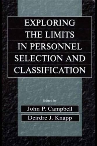 Exploring the Limits in Personnel Selection and Classification (Paperback)