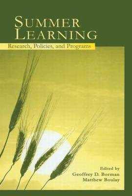 Summer Learning: Research, Policies, and Programs (Paperback)