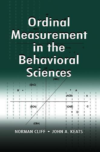 Ordinal Measurement in the Behavioral Sciences (Paperback)