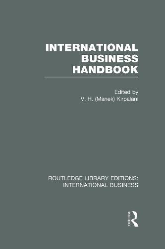 International Business Handbook - Routledge Library Editions: International Business (Hardback)