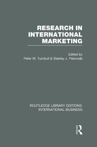 Research in International Marketing - Routledge Library Editions: International Business (Hardback)
