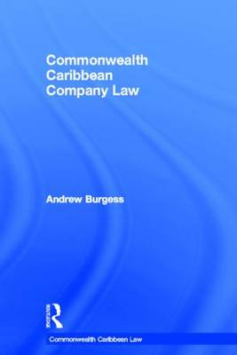 Commonwealth Caribbean Company Law - Commonwealth Caribbean Law (Hardback)