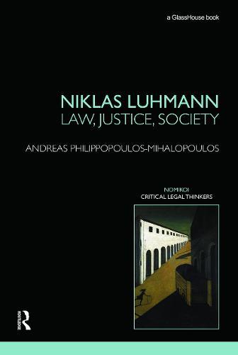 Niklas Luhmann: Law, Justice, Society (Paperback)
