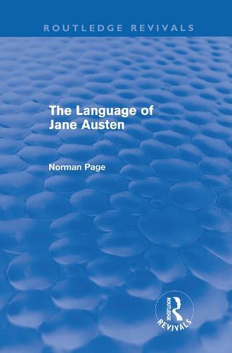 The Language of Jane Austen - Routledge Revivals (Hardback)
