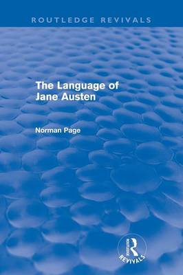 The Language of Jane Austen - Routledge Revivals (Paperback)
