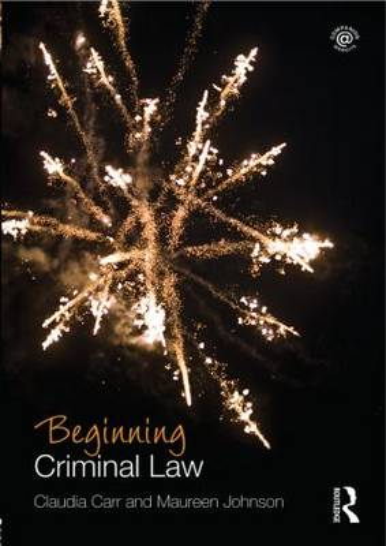 Beginning Criminal Law - Beginning the Law (Paperback)