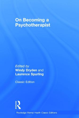 On Becoming a Psychotherapist (Hardback)