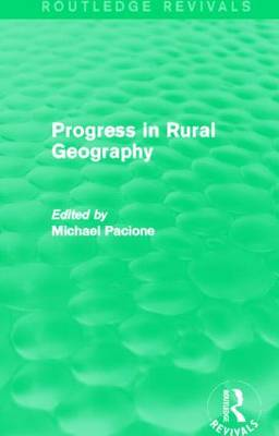 Progress in Rural Geography - Routledge Revivals (Paperback)