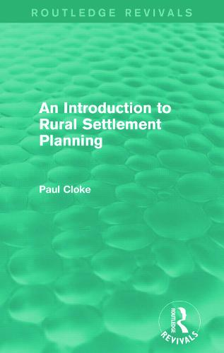 An Introduction to Rural Settlement Planning (Paperback)