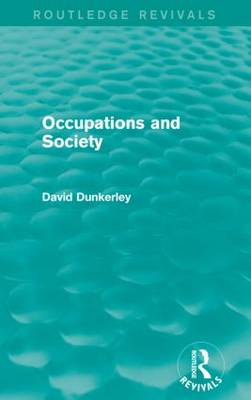 Occupations and Society (Paperback)