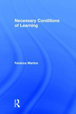 Necessary Conditions of Learning (Hardback)