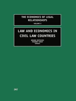 Law and Economics in Civil Law Countries - The Economics of Legal Relationships (Paperback)