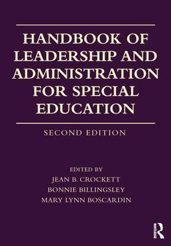 Handbook of Leadership and Administration for Special Education (Paperback)