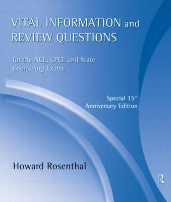 Vital Information and Review Questions for the NCE, CPCE, and State Counseling Exams: Special 15th Anniversary Edition (CD-Audio)