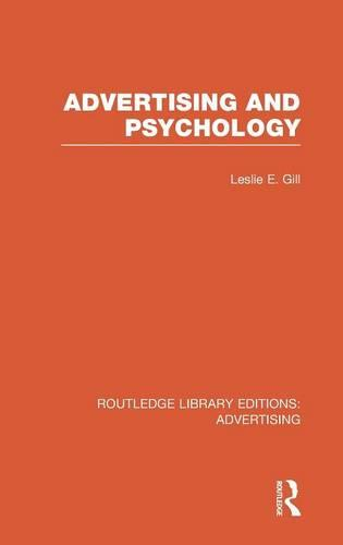 Advertising and Psychology - Routledge Library Editions: Advertising (Hardback)