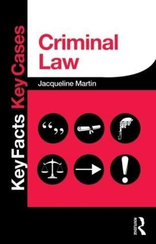 Criminal Law - Key Facts Key Cases (Paperback)