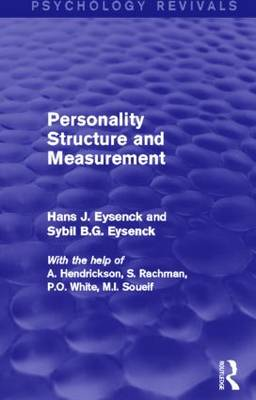 Personality Structure and Measurement (Psychology Revivals) - Psychology Revivals (Hardback)