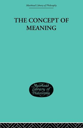 The Concept of Meaning (Paperback)