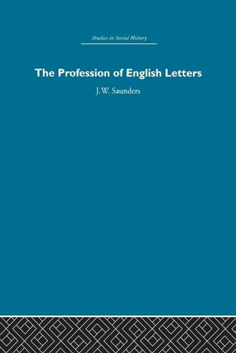 The Profession of English Letters (Paperback)