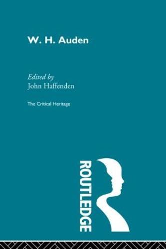 W.H. Auden (Paperback)