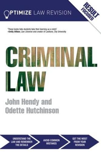 Optimize Criminal Law - Optimize (Paperback)