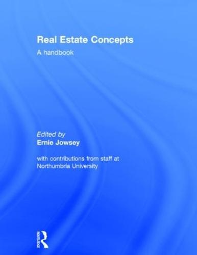 Real Estate Concepts: A Handbook (Hardback)