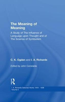 Meaning of Meaning: v. 2 (Paperback)