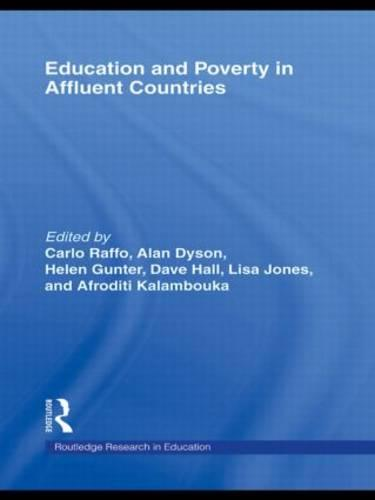 Education and Poverty in Affluent Countries - Routledge Research in Education (Paperback)