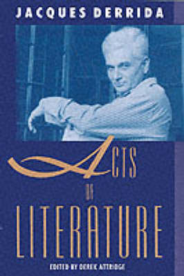 Acts of Literature (Paperback)