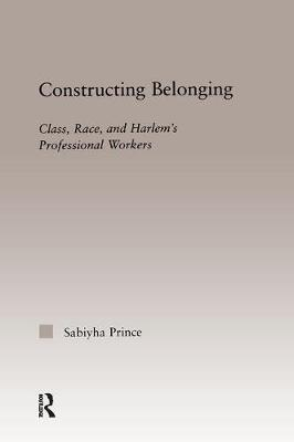 Constructing Belonging: Class, Race, and Harlem's Professional Workers - Studies in African American History and Culture (Hardback)