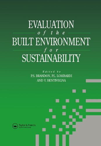 Evaluation of the Built Environment for Sustainability (Hardback)