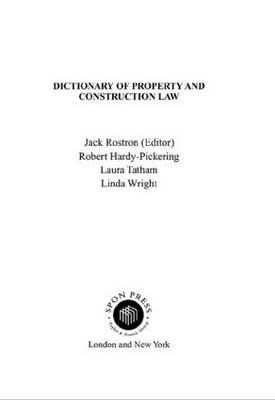 Dictionary of Property and Construction Law (Paperback)