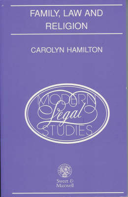 Family, Law and Religion (Paperback)