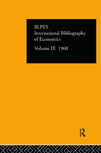 IBSS: Economics: 1960 Volume 9 (Hardback)