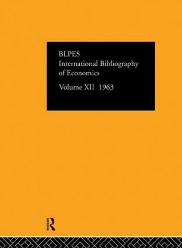 International Bibliography of the Social Sciences: Volume 12 (Hardback)