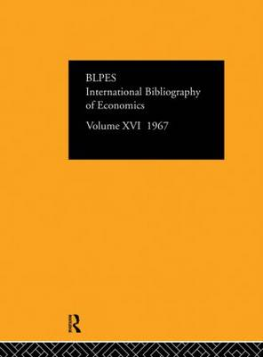 IBSS: Economics: Volume 16 (Hardback)