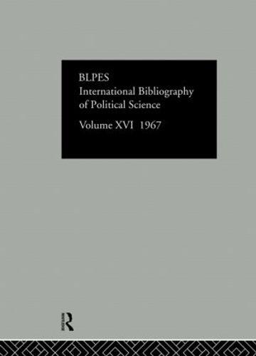 IBSS: Political Science: 1967 Volume 16 (Hardback)
