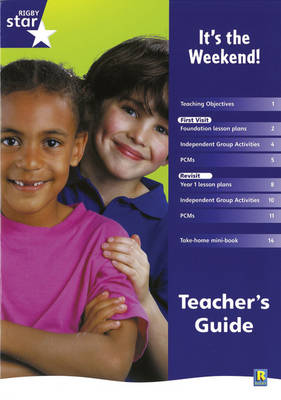 Rigby Star Shared Reception Non-Fiction: It's the Weekend Teachers Guide - Red Giant (Paperback)