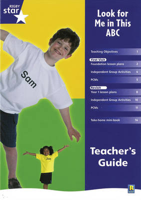 Rigby Star Shared Reception Non-Fiction: Look For Me In This ABC Teachers Guide - RED GIANT (Paperback)