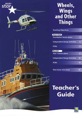 Rigby Star Shared Reception Non-Fiction: Wheels Wings and Other Things Teachers Guide - RED GIANT (Paperback)