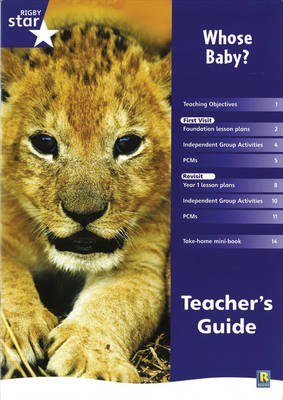 Rigby Star Shared Reception Non-fiction: Whose Baby? Teachers Guide - Red Giant (Paperback)