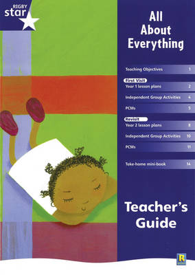 Rigby Star Shared Year 1 Fiction: All About Everything Teachers Guide - RED GIANT (Paperback)