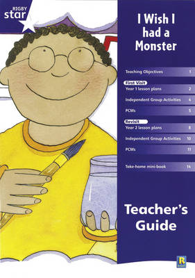 Rigby Star Shared Year 1 Fiction: I Wish I Had a Monster Teachers Guide - Red Giant (Paperback)