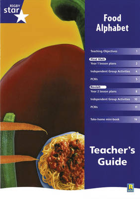 Rigby Star Shared Year 1 Non-Fiction: Food Alphabet Teachers Guide - RED GIANT (Paperback)