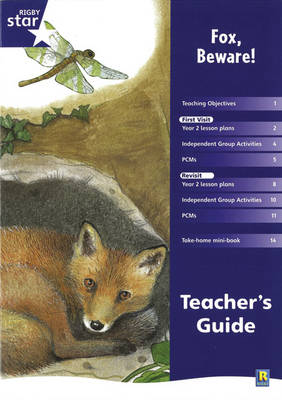 Rigby Star Shared Year 2 Fiction: Fox Beware Teachers Guide - RED GIANT (Paperback)