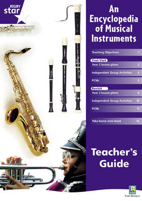 Rigby Star Shared Year 2 Non-Fiction: Encyclopedia of Musical Instruments Teachers Guide - RED GIANT (Paperback)