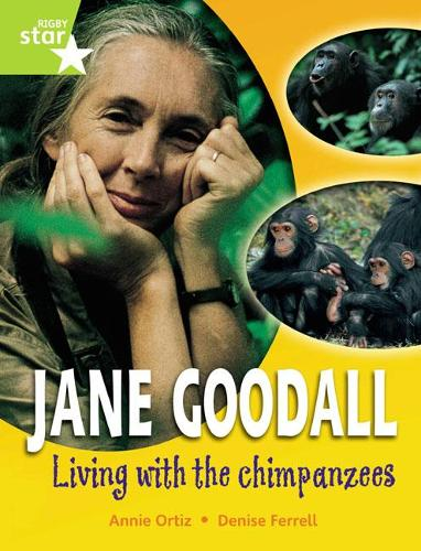 Rigby Star Gui Quest Year 2 Lime Level: Jane Goodall: Living With Chimpanzees Reader Sgle - STARQUEST (Paperback)