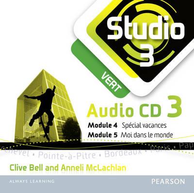 Studio 3 Vert Audio CD C (11-14 French) - Studio 11-14 French (CD-Audio)