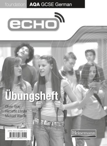 Echo AQA German GCSE Foundation single Workbook - AQA Echo GCSE German (Paperback)