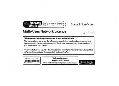 Literacy World Interactive Stage 3 Non-fiction Multi User Licence - LITERACY WORLD INTERACTIVE (Paperback)